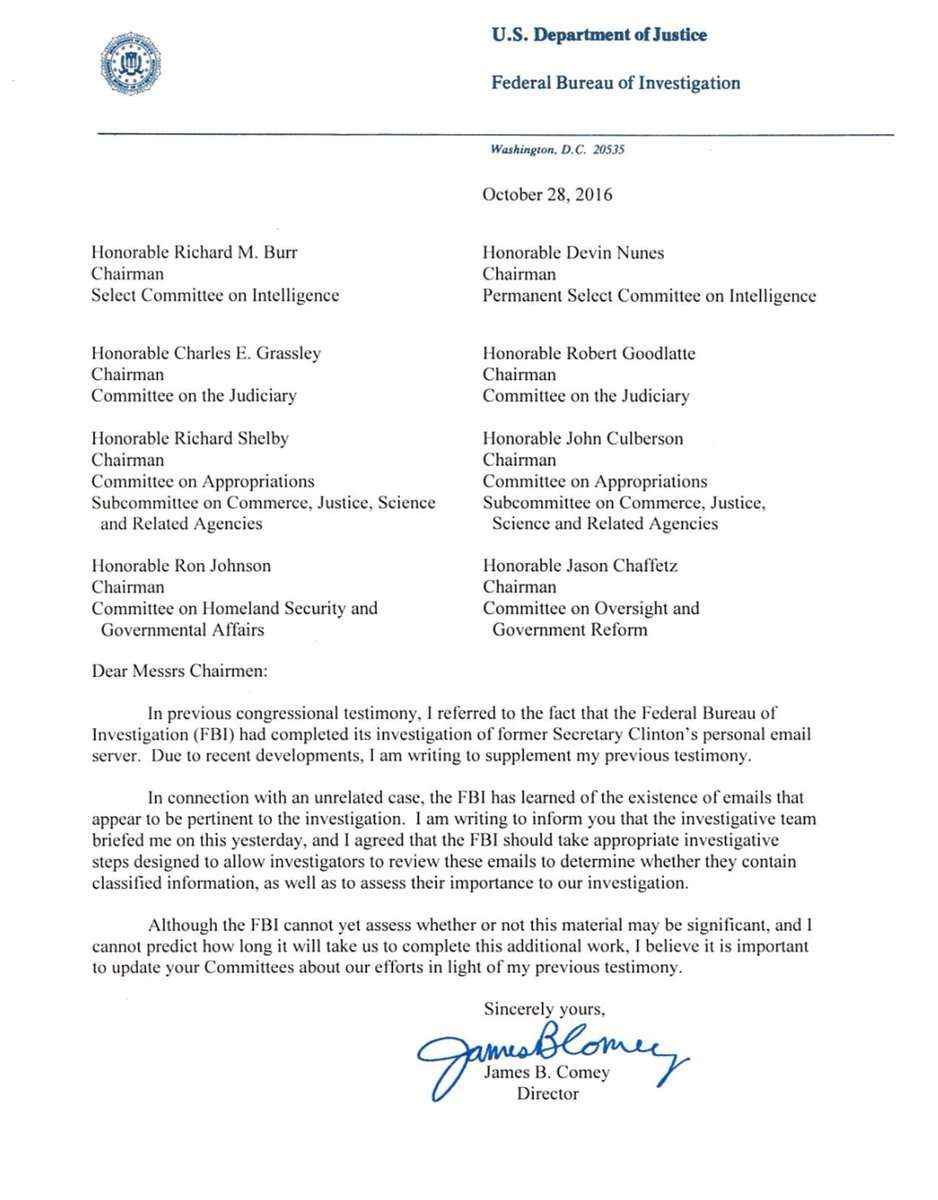 Comey Letter