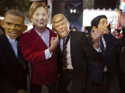 Trump, Clinton, Obama