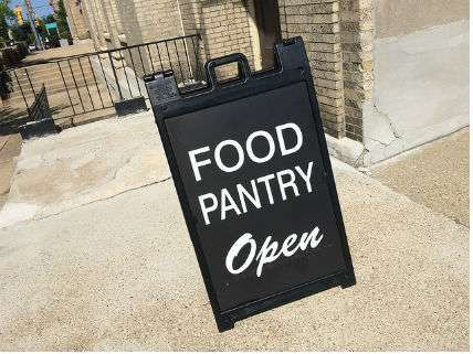 A church food pantry