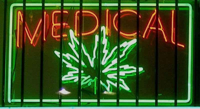 Medical marijuana shop sign