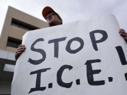 ICE protester