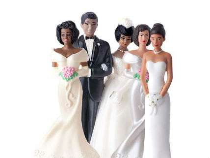 Polygamous wedding cake toppers