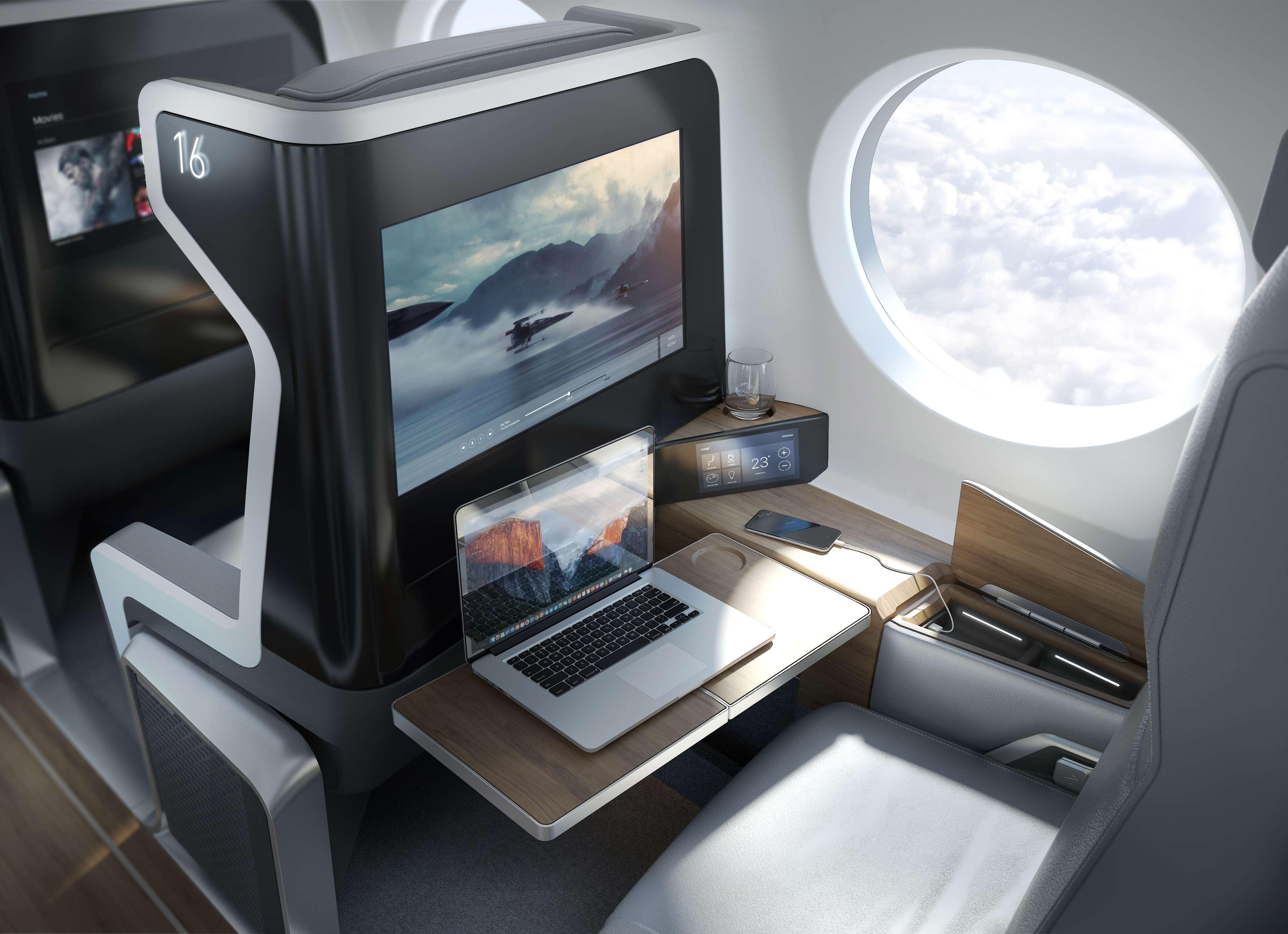 Interior of Boom plane