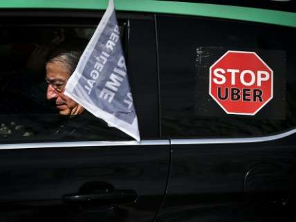 Stop Uber protester