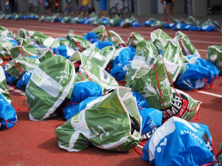 Plastic bags at work