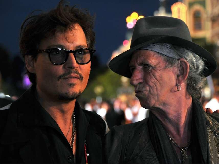 Actor Johnny Depp (left)