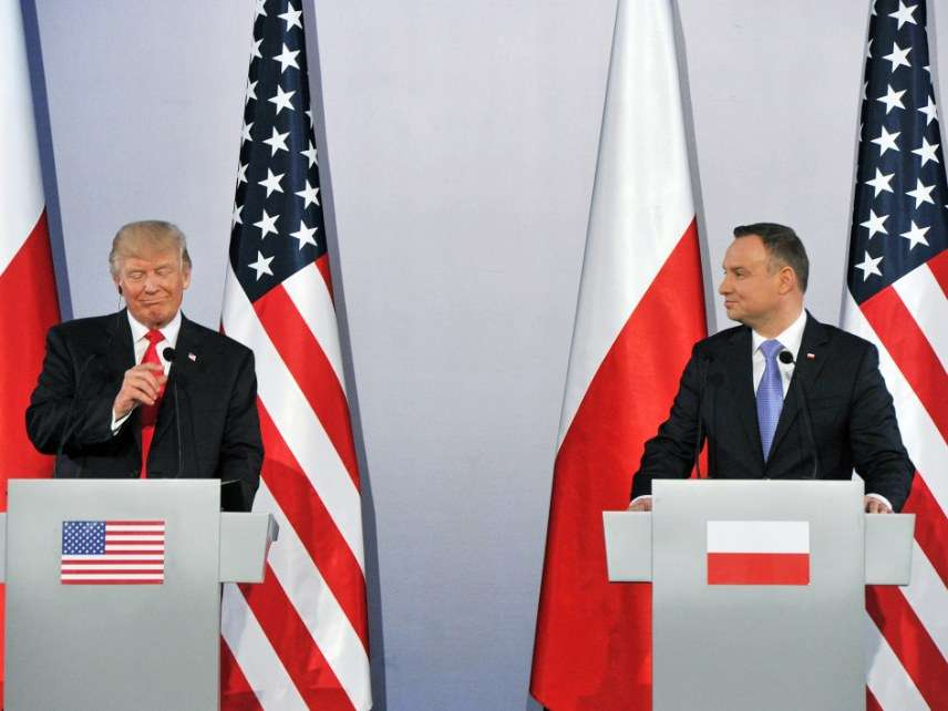 Trump in Poland