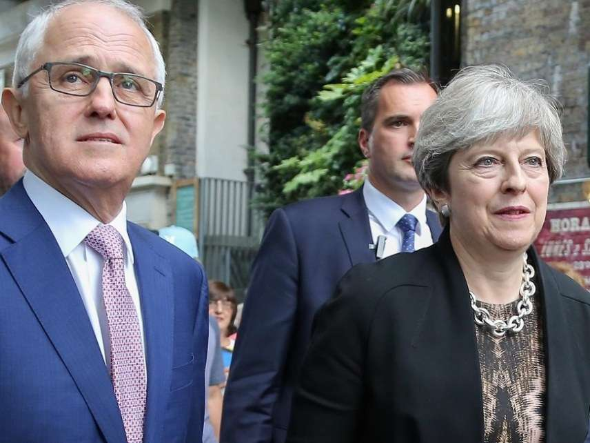 Malcolm Turnbull and Theresa May