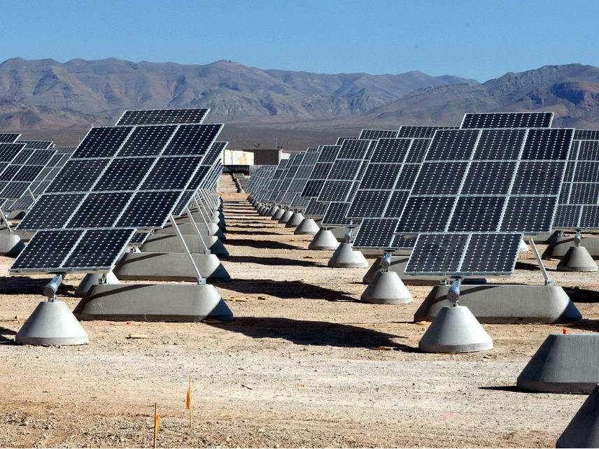 Solar panels at Nellis AFB