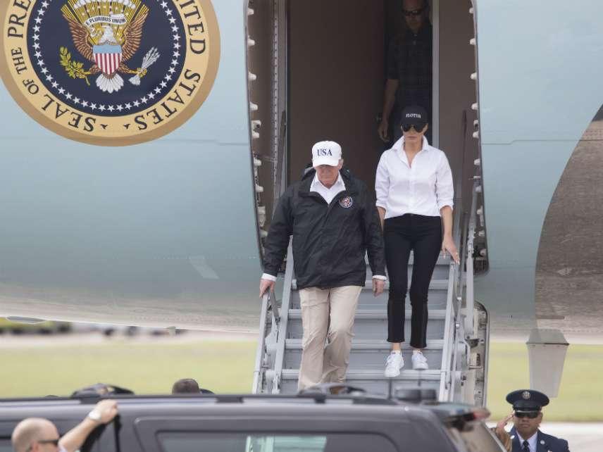 Trump landing in Texas