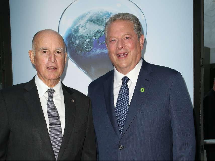 Gov. Jerry Brown and Al Gore