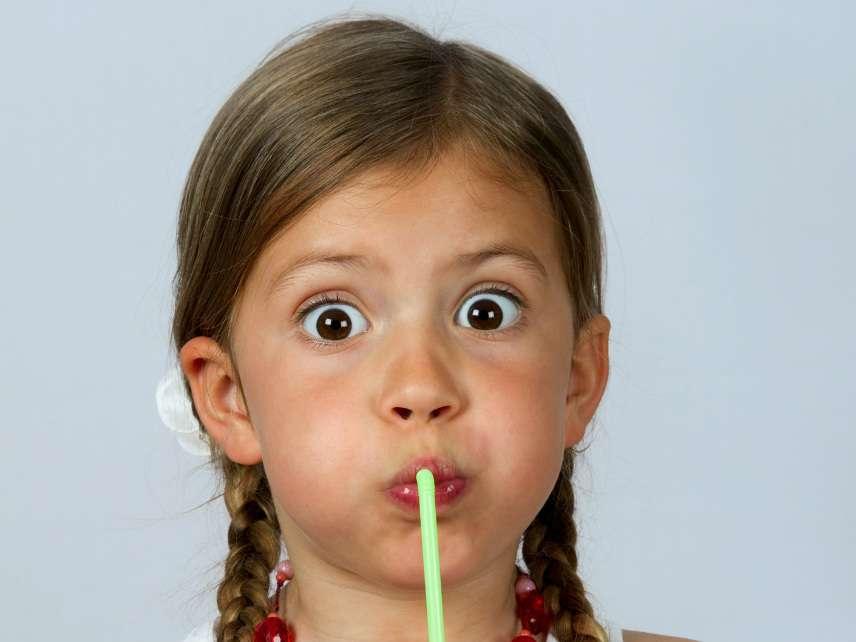 An eco-terrorist uses a straw