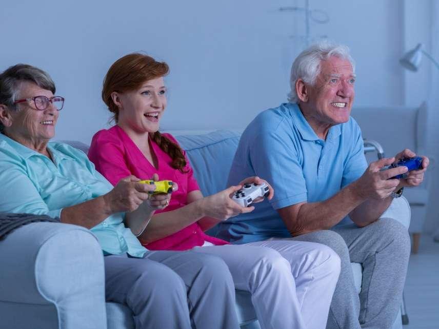 Nurse playing games