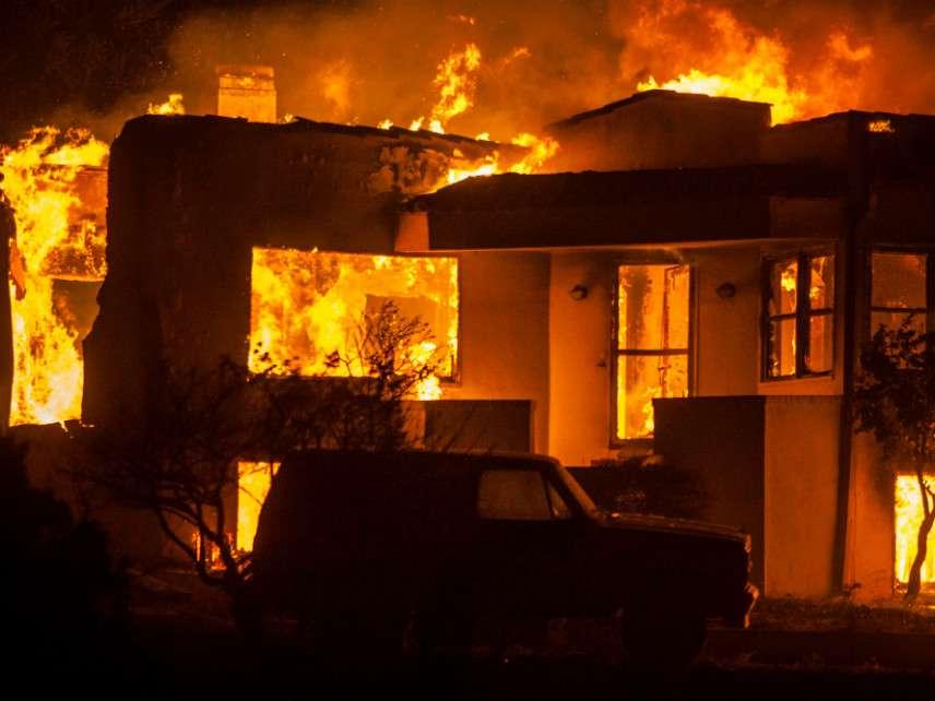 Fire in Napa, California