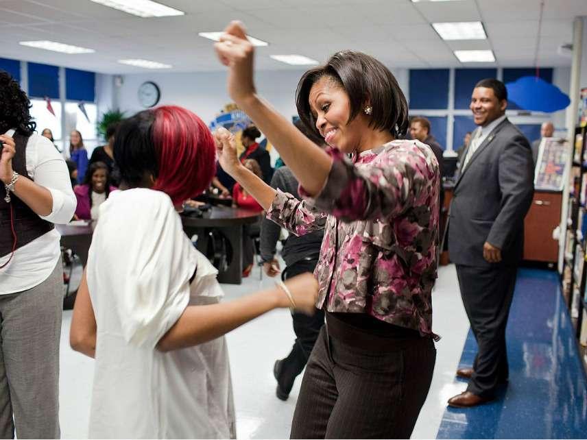Michelle Obama visits Ballou High School