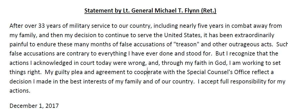 Flynn statement