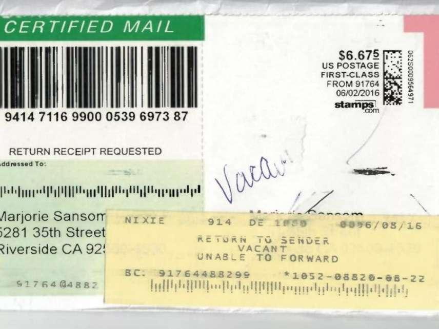 returned mail