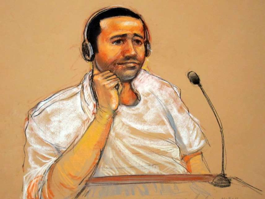 Nashiri at his military arraignment at Guantanamo in 2011