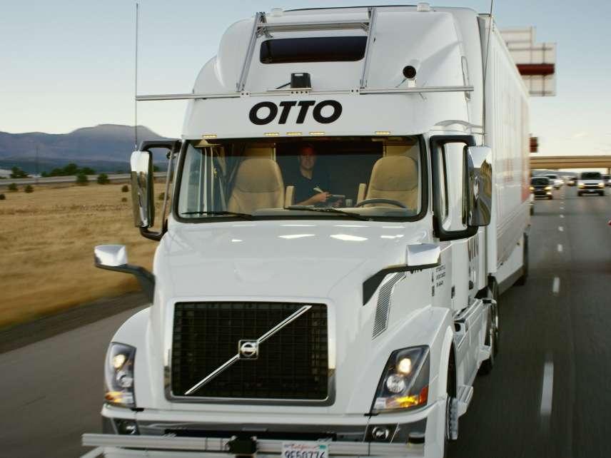 Self-driving Otto truck