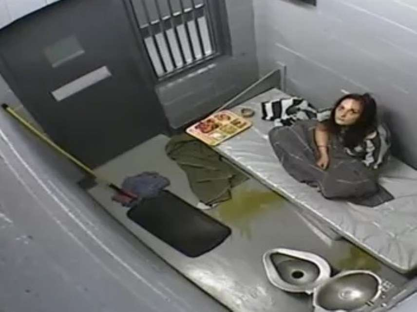 Kelly Coltrain in jail cell