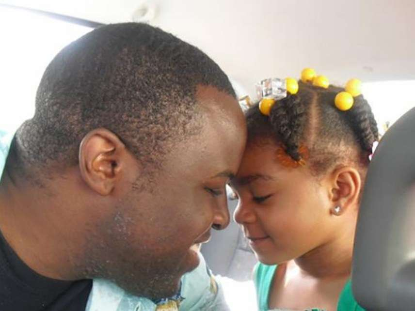 Chinedu Okobi and daughter