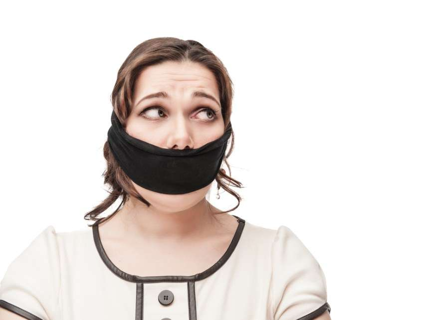Gagged woman
