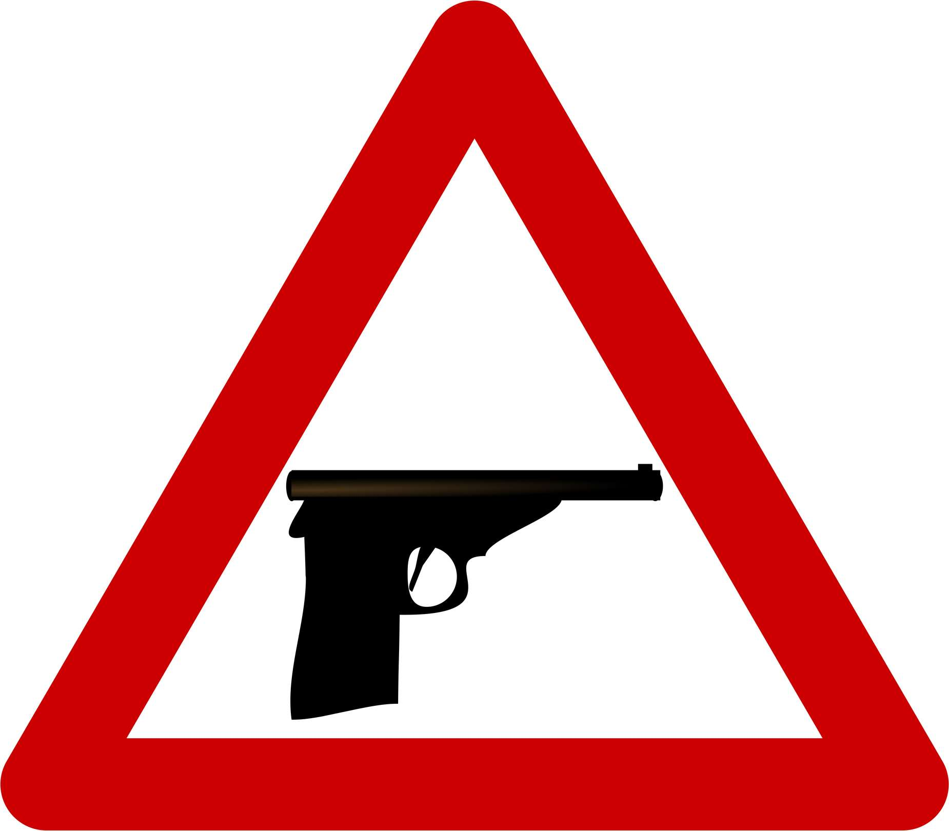 Gun warning sign