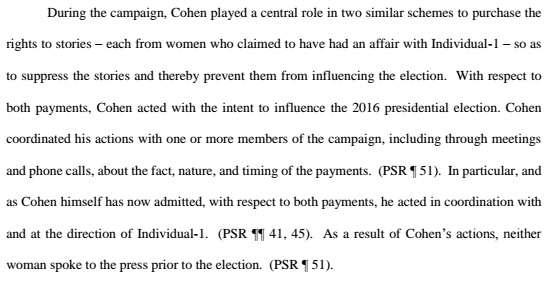 Cohen memo
