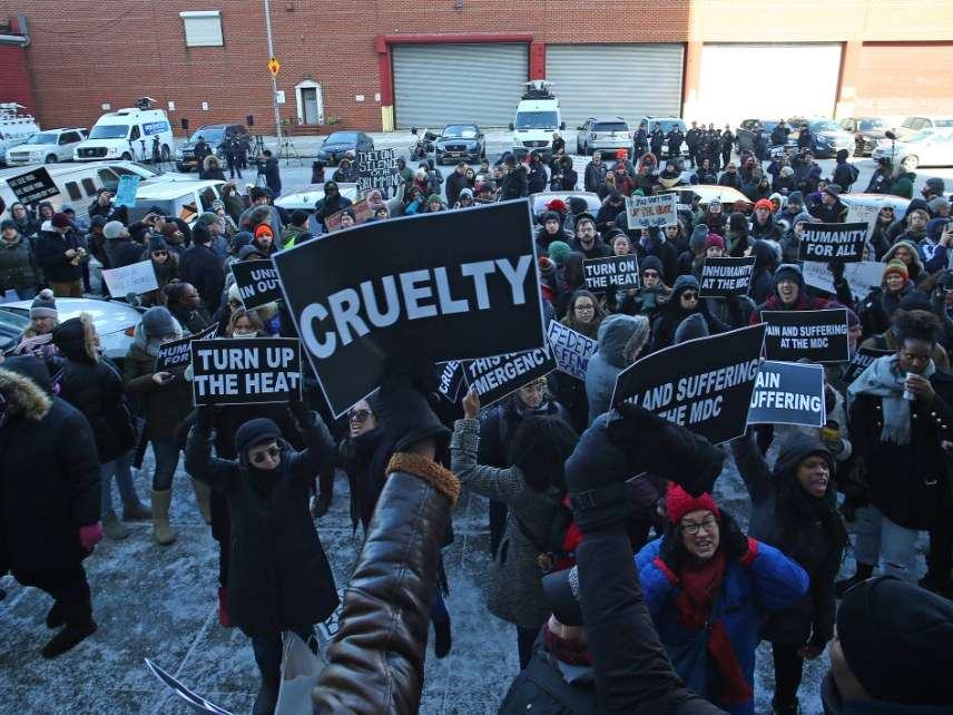 Metropolitan Detention Center, Brooklyn, protests