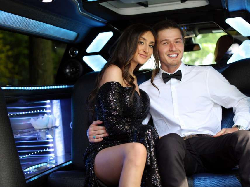 Prom night in limo