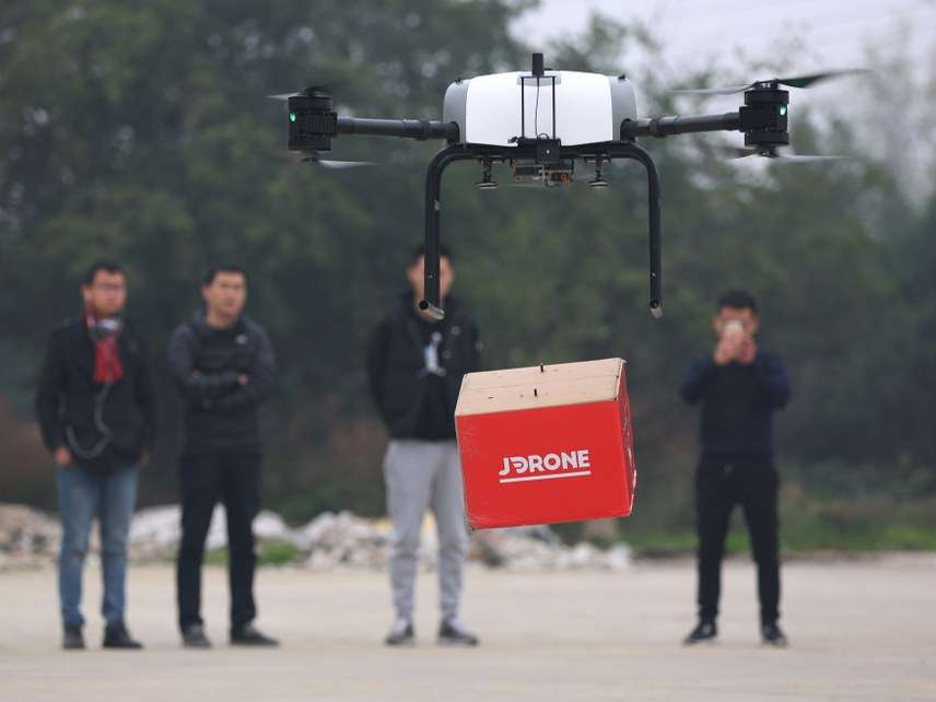 Drones being delivered