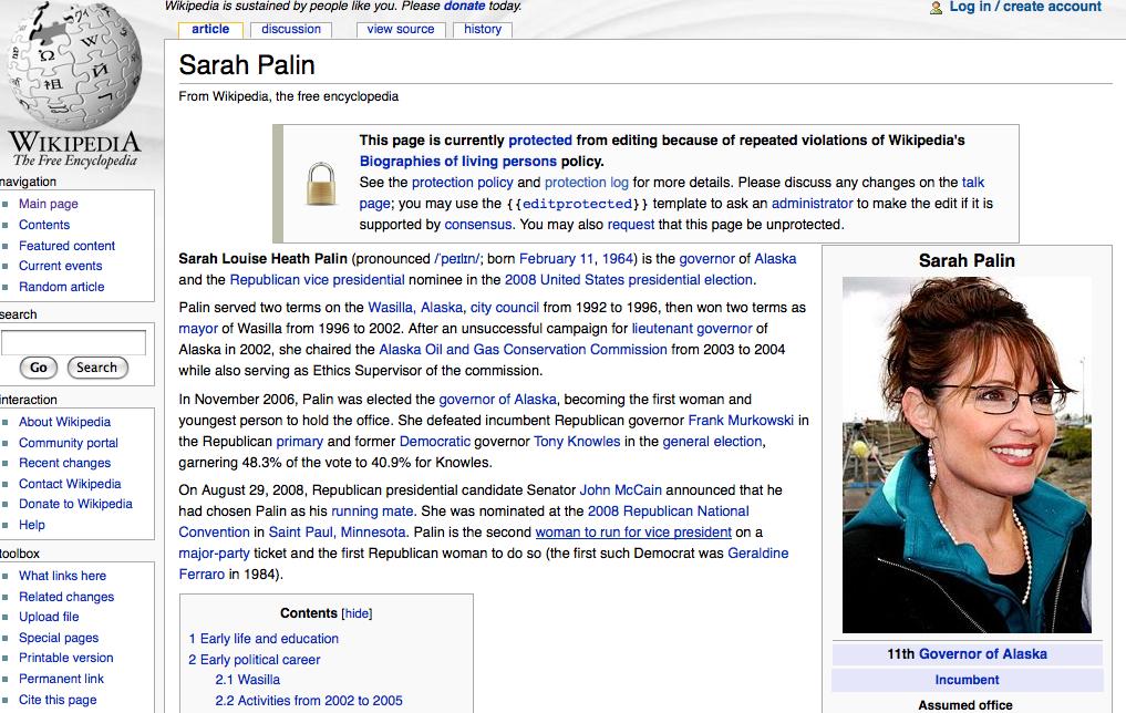 Palin Wiki