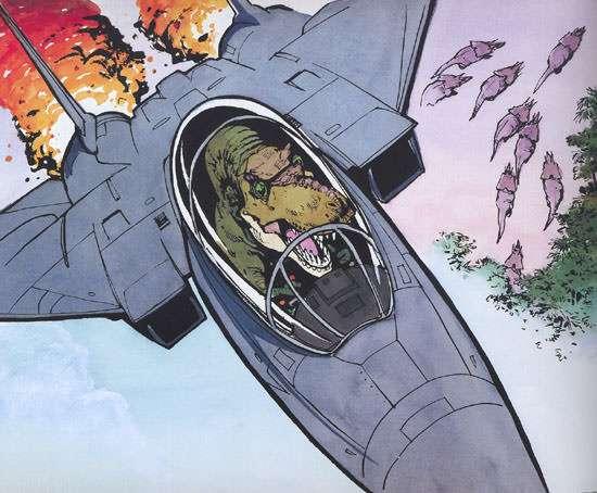 Get it? John McCain's a dinosaur