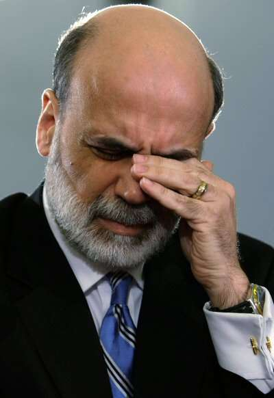 Bernanke bawls like a twist because he's a pansy.