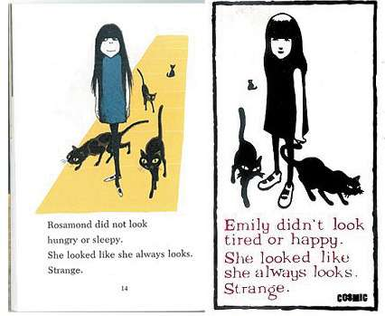 These images are totally different because one only has three cats