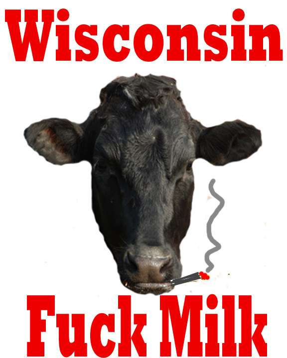 cow smoking weed, wisconsin