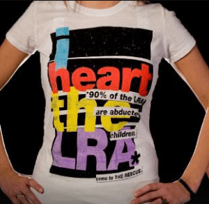 Invisible Children I Heart the LRA T-Shirt, 2009