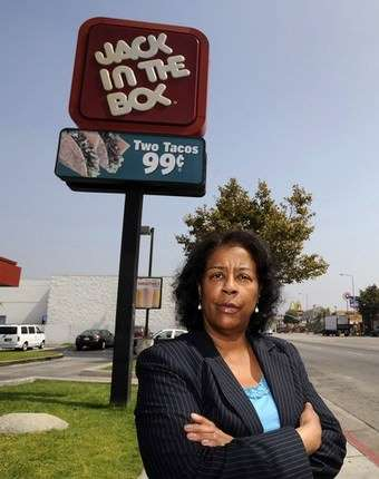 That's Jan Perry. She drafted the resolution. She also likes banning fast food in South Los Angeles. She makes 180 grand per year.