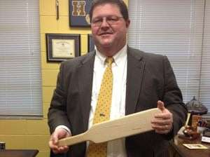 this is a real photo of a real high school principal in 2012. Jesus.