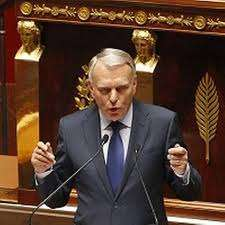 Ayrault Speaking to the French National Assembly