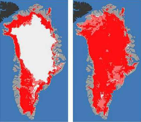 Is red really the right color for melting ice?