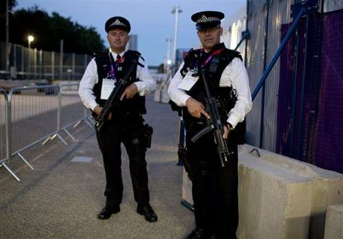 UK police providing Olympic security.