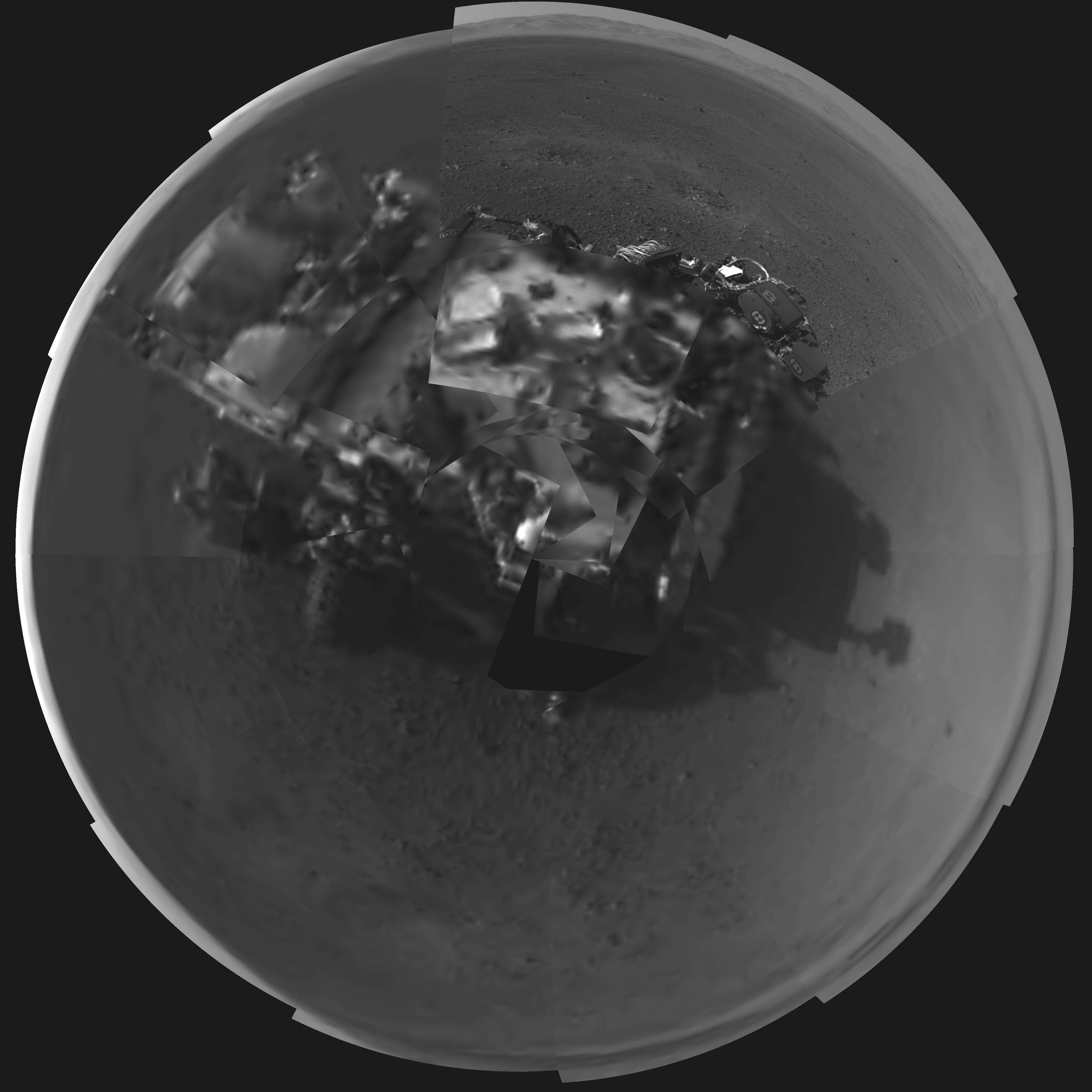 mars rover self portrait