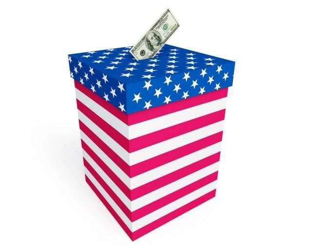 money in ballot box