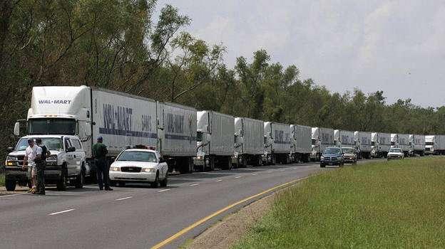 Wal-Mart relief convoy