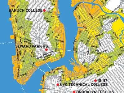 NYC evacuated areas