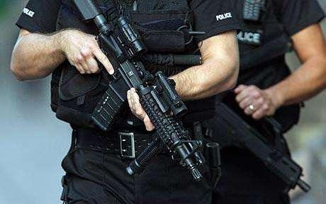 Armed police patrol
