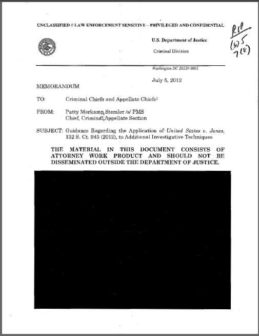 Redacted FBI surveillance memo