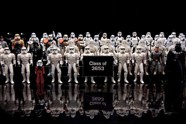 A graduating class of Storm Troopers