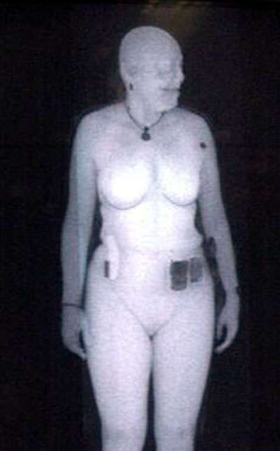 Backscatter whole body scanner